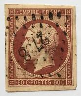 YT 17A (°) Obl 1853-60 Napoléon III 80c Carmin Foncé LPC 2738 Rouen Seine Inférieure (côte 70 Euros) – Cata - 1853-1860 Napoleon III