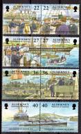 ALDERNEY - 2001 GARRISON ISLAND 5th SERIES SET (8V) FINE MNH ** SG A176-A183 - Alderney