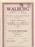 Walburg NV Sint Niklaas - Gesticht Op 20 Mei 1927 - Aandeel Nr 10851 - Alle 30 Coupons Nog Aangehecht - In Mooie Staat - W - Z