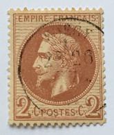 YT 26 (°) 1863-70 Napoléon III Empire Franc Lauré, 2c Rouge-brun (côte 50 Euros) – Cata - 1863-1870 Napoleon III With Laurels