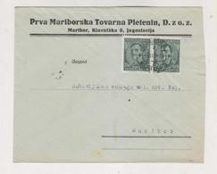 SLOVENIA Yugoslavia 1934  MARIBOR PRVA MARIBORSKA TOVARNA PLETENIN Nice Cover - Slovenia
