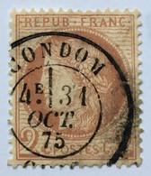 YT 51 III République 1871-75 (°) 2c Rouge Brun Cérès Grands Chiffres CàD Condom Gers (côte 15 Euros) – Cata - 1871-1875 Ceres