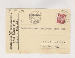 SLOVENIA Yugoslavia 1937  KRMELJ SENTJANSKI PREMOGOVNIK AND. JAKIL D.D. Nice Postcard - Slovenia