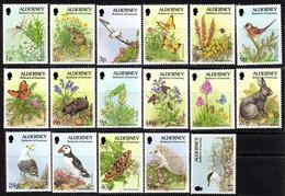 ALDERNEY GB - 1994 FLORA & FAUNA SET (17V) FINE MNH ** SG A60-A76 - Alderney