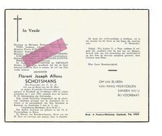 DD 396. FLORENT SCHOTSMANS - Ere-Voorzitter C.O.O. - °KERSBEEK 1884 En Aldaar + 1959 - Andachtsbilder