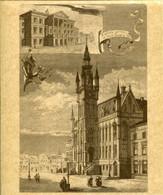 SINT NIKLAAS - Kopie Oude Ets Van Stadhuis Met Foto Van L'Ancien Hotel De Ville Incendié En 1873 - Andere