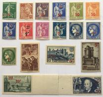 YT 476 Au 493 (**) MNH Série Complète 1940-41 Surchargés Clément Ader (côte 97 Euros) – Cata - Unused Stamps
