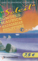 TARJETA DE FRANCIA DE STARPHONE DE 7,50€ - PLAYA - COMORES-MAURICE-MADAGASCAR - Frankreich