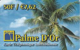 TARJETA DE FRANCIA DE PALME D'OR DE 7,62€ - PLAYA - PALMERA - Frankreich
