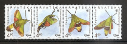 CROATIA 2012,FAUNA,INSECTS,MI NO 1049-52,,MNH - Croatia