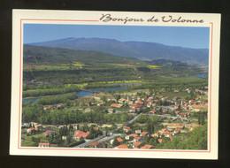 Volonne (04) : Vue Générale Du Village Et La Durance - France