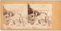 Gymnastique  C.1860 Appareils  Photo C.8cm X2 Stereo Collée Sur Carton - Old (before 1900)