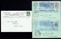 J - 3 Documents Lamberts Frères Usine A Terhaegen Lez Boom En 1931 X 2 Et 1935 - Antwerpen