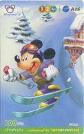 Mobilecard Thailand - 12Call/AIS  - Disney - Winter - Mickey - Ski - Tailandia