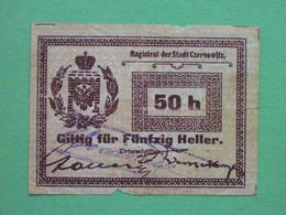 Ukraine, Chernivtsi 1914 50 Hellers. Magistrate. Local Issue. - Ucraina