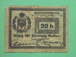 Ukraine, Chernivtsi 1914 20 Hellers. Magistrate. Local Issue. - Ucraina