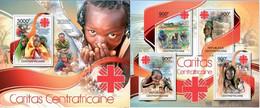 Central African Republic 2012, Caritas, Two MNH S/S - Zentralafrik. Republik