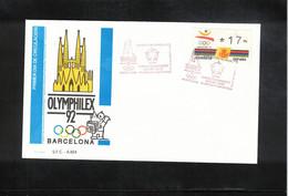 Spain 1992 Olympic Games Barcelona World Philatelic Exhibition OLYMPHILEX Interesting Letter - Summer 1992: Barcelona