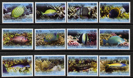 Cook Islands - Penrhyn 2013 Tropical Fish Of The Pacific Definitive Perf Set Of 12 Unmounted Mint - Cook