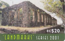 TARJETA DE SANTA LUCIA DE LANDMARKS EC$20  (337CSLF) - Santa Lucia