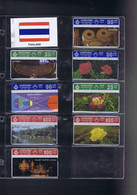 Télécartes Carte Telephonique Phonecard Thailande  8 Cartes - Tailandia