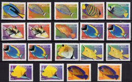 South Africa - 2000-2004 - Tropical Fish - Mint Definitive Stamp Set (19 Values, Including Reprints) - Nuovi