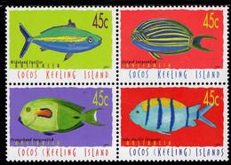Cocos (Keeling) Islands - 2001 - Fish And Marine Life - Mint Definitive Stamp Set (se-tenant Block) - Cocoseilanden