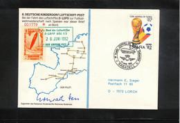 Spain 1982 World Football Cup Spain Zeppelin Flight - 6. Deutsche Kinderdorf Luftschiff Post - Sin Clasificación