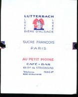 Emballage De Sucre Ancien Sucre François Paris Lutterbach Au Petit Moine Café Bar Bd De Strasbourg Paris Xe - Zucchero (bustine)