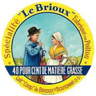 ETIQU. CAMEMB. LE BRIOUX  POITOU 79 - Cheese