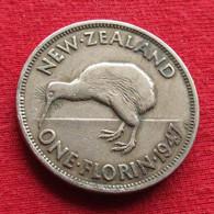 New Zealand 1 One Florin 1947 KM# 10.2a  Nova Zelandia Nuova Zelanda Nouvelle Zelande - Nieuw-Zeeland