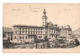 Europe > Pologne- VARSOVIE-RATUSZ VARSOVIE HOTEL DE VILLE - PEU CONNUE  NON CIRCULEE - Poland