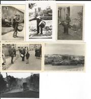 Belgique/France 1940: 6 Photos Diverses Prises Par Soldats Allemands - Guerre, Militaire