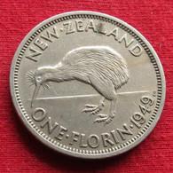 New Zealand 1 One Florin 1949 KM# 18  Nova Zelandia Nuova Zelanda Nouvelle Zelande - Nieuw-Zeeland