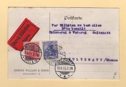 Mulhouse - Carte En Expres Pour Soultzmatt - 9-6-1915 - Type Germania - Occupation De L'Alsace - 1877-1920: Semi-Moderne