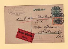 Colmar - Carte En Expres Pour Soultzmatt - 7-5-1916 - Type Germania - Occupation De L'Alsace - 1877-1920: Semi-Moderne