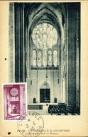Cathédrâle De Chartres Cachet Ordinaire Chartres  3 Mars 1945 Carte édition ND Religion Monument - 1940-49