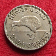 New Zealand 1 One Florin 1965 KM# 28.2  Nova Zelandia Nuova Zelanda Nouvelle Zelande - Nieuw-Zeeland