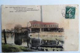 C. P. A. Couleur : 33 LES EGLISOTTES, Passage Du Bac Sur La Dronne, Aux Usines à Papier Montfourat, Timbre En 1908 - Altri Comuni
