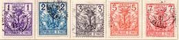 HAITI (Amérique Centrale) - 1891 - N° 21 à 25 - (Lot De 5 Valeurs Différentes) - (Armoiries) - Haïti