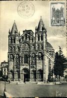 Cathédrâle D'Angoulême Cachet Ordinaire Angoulême 15 Décembre 1944 Carte CAP Religion Monument - 1940-49
