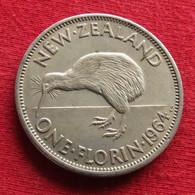 New Zealand 1 One Florin 1964 KM# 28.2  Nova Zelandia Nuova Zelanda Nouvelle Zelande - Nieuw-Zeeland