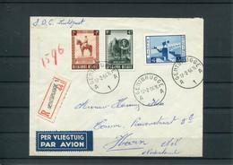 Belgique Belgie Belgium COB 938/40 Série Complète Sur Lettre Oblitération Premier Jour 1954 FDC - 1951-60