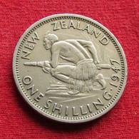 New Zealand 1 One Shilling 1947 KM# 9a  Nova Zelandia Nuova Zelanda Nouvelle Zelande - Nieuw-Zeeland