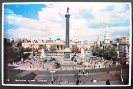 1960 Postal Card Trafalgar Square London - Circulated From Belgium To Montevideo Per Vliegtuig - Brieven En Documenten