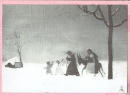 Z.M. Augustina,olieverf Op Doek - Heilig-Grafpriorij Turnhout - Kerst Nieuwjaar Zr.Els - 1996 - Collezioni