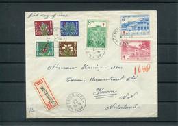 Belgique Belgie Belgium COB 834/40 Série Complète Sur Lettre Oblitération Premier Jour 1950 FDC - ....-1951