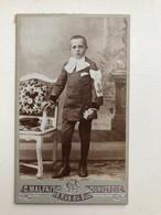 Cdv Jeunne Homme In Uniform Photo Malfait Dunkerque - Non Classificati