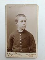 Cdv Enfant Homme In Uniform? Photo Pirou Paris - Non Classificati