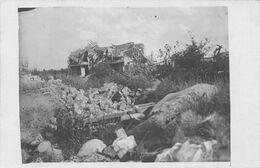 Carte Postale Photo Militaire Allemand AUCHY LEZ LA BASSEE-62-Pas De Calais-Vue Sur Village En Ruine-Krieg-Guerre 14/18 - Altri Comuni